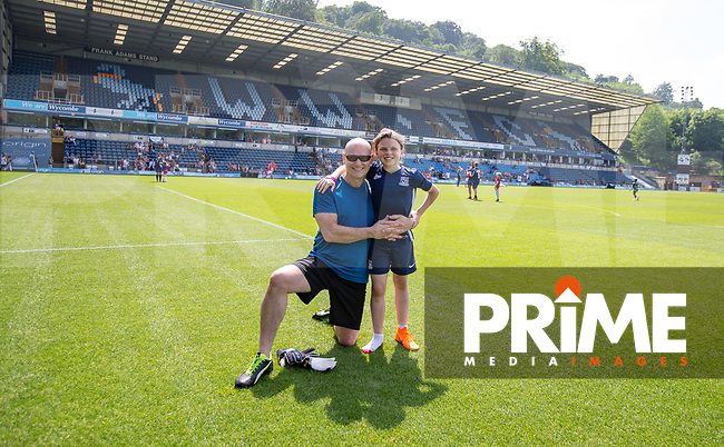 Terry Alderton & son during the Sellebrity Soccer match for Wycombe Sports & Education Trust at Wycombe Wanderers, Adams Park, High Wycombe, England on 28 May 2018. Photo by Andy Rowland.