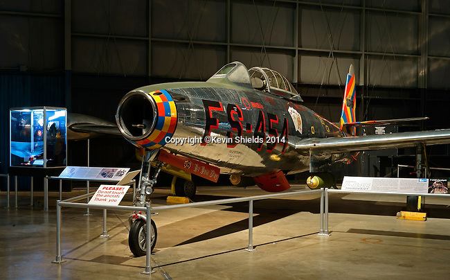 Rebuplic F-84E at the National Museum of the United States Air Force, Dayton, Ohio, USA