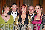 Having fun at the Kingdom Hunt ball in the Killarney Oaks Hotel Saturday night were l-r: Sabrina Eitle, Michael Linehan Gneeveguilla, Moira Snaith Rathmore, Humphrey O'Keeffe Gneeveguilla and Rebecca Smith Rathmore.   Copyright Kerry's Eye 2008