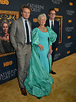 "Jason Clarke, Helen Mirren, Philip Martin  attends the Los Angeles Premiere Of The New HBO Limited Series ""Catherine The Great"" at The Billy Wilder Theater at the Hammer Museum on October 17, 2019 in Los Angeles, California."