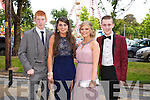Having fun at the Causeway Comprehensive Debs on Thursday at The Brandon Hotel were Stephen Murphy and Lorraine Keane, Louise Thornton and J.J. Lee