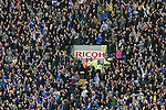 Coventry City 1 Birmingham City 1, 10/03/2012. Ricoh Arena, Championship. Visiting fans erupt in celebration at their equaliser at the Ricoh Arena, as Coventry City host Birmingham City in an Npower Championship fixture. The match ended in a one-all draw, watched by a crowd of 22,240. The Championship was the division below the top level of English football. Photo by Colin McPherson.
