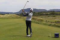 Action on the 13th tee during the Flogas Irish Amateur Open Championship 2019 at the Co.Sligo Golf Club, Rosses Point, Sligo, Ireland. 15/05/19<br /> <br /> Picture: Thos Caffrey / Golffile<br /> <br /> All photos usage must carry mandatory copyright credit (© Golffile | Thos Caffrey)