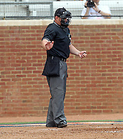 Umpires at the 2011 NCAA Baseball Regionals held June 3-4 at Davenport Stadium in Charlottesville, Va.  Virginia hosted Navy, St. John's and the East Carolina University Pirates. Photo/Andrew Shurtleff