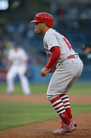 05/25/17 Los Angeles, CA: St. Louis Cardinals second baseman Kolten Wong #16 during an MLB game between the Los Angeles Dodgers and the St Louis Cardinals played at Dodger Stadium.