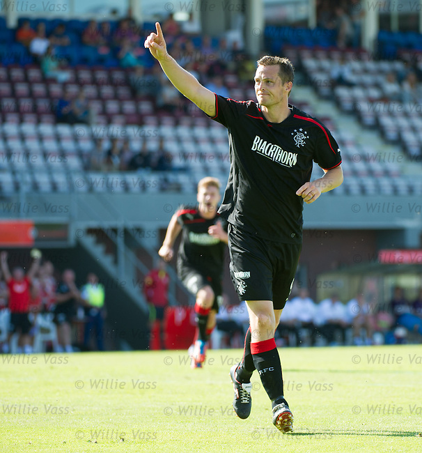 Jon Daly celebrates his debut goal for Rangers
