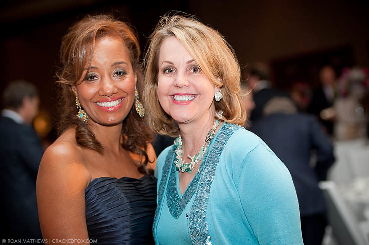 Gala Chairs Arvia Few and Carrin Patman pause after Joan Rivers concert presented by Houston Area Women's Center at their 2011 Gala.