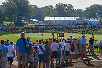 Tiger Woods (USA) reacts to barely missing his putt on 17 during 1st round of the 100th PGA Championship at Bellerive Country Cllub, St. Louis, Missouri. 8/9/2018.<br /> Picture: Golffile | Ken Murray<br /> <br /> All photo usage must carry mandatory copyright credit (© Golffile | Ken Murray)