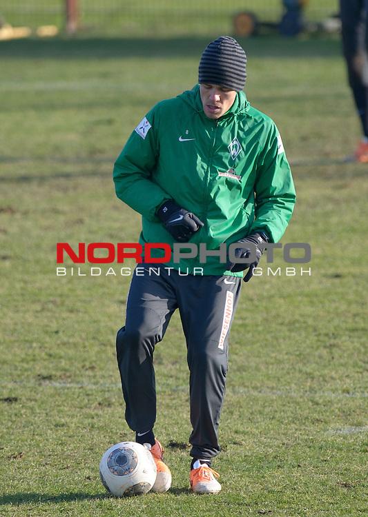 04.02.2014, Trainingsgelaende, Bremen, GER, 1.FBL, Training Werder Bremen, im Bild Clemens Fritz (Bremen #8)<br /> <br /> Foto &copy; nordphoto / Frisch