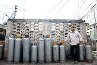 Cuban conceptual artist Ivan Abreu at his home in Mexico City.