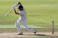 Nick Browne of Essex drives the ball for four runs during Warwickshire CCC vs Essex CCC, Specsavers County Championship Division 1 Cricket at Edgbaston Stadium on 11th September 2019