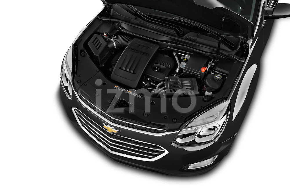 Car Stock 2017 Chevrolet Equinox LT 5 Door Suv Engine  high angle detail view