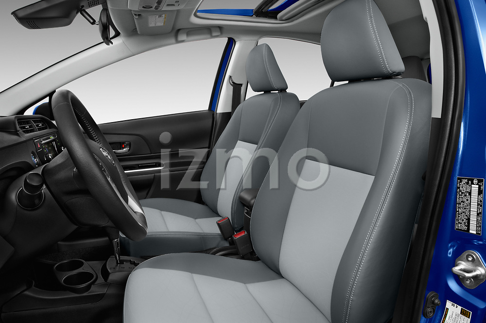 Front seat view of 2017 Toyota Prius-c Four 5 Door Hatchback Front Seat  car photos
