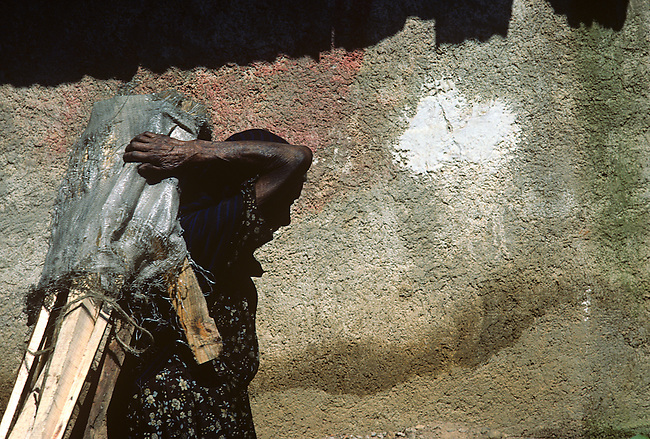 Old Woman Carrying Firewood, Patzcuaro, Mexico