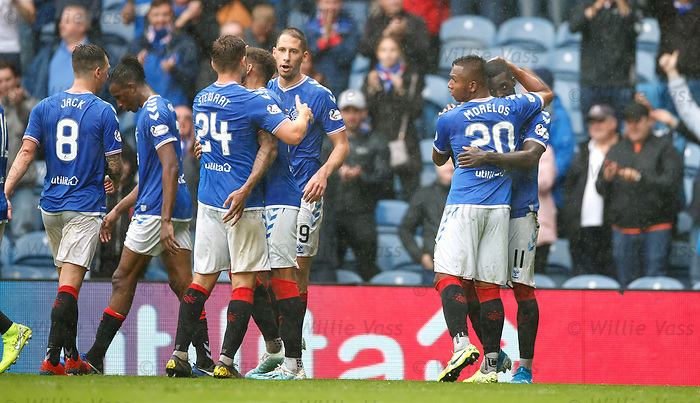11.08.2019 Rangers v Hibs: Sheyi Ojo takes the acclaim as Rangers score six
