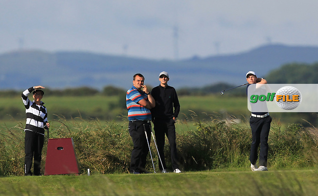 Conor Purcell (Portmarnock) on the 3rd tee during Round 3 of Matchplay in the North of Ireland Amateur Open Championship at Portrush Golf Club, Portrush on Thursday 14th July 2016.<br /> Picture:  Thos Caffrey / www.golffile.ie
