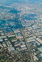 Los Angeles, CA City of Commerce,  Commercial Airplane,near Landing, Los Angeles, CA