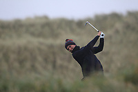 Harry Watkins (Southerndown) on the 13th tee during Round 2 of the Ulster Boys Championship at Portrush Golf Club, Portrush, Co. Antrim on the Valley course on Wednesday 31st Oct 2018.<br /> Picture:  Thos Caffrey / www.golffile.ie<br /> <br /> All photo usage must carry mandatory copyright credit (&copy; Golffile | Thos Caffrey)