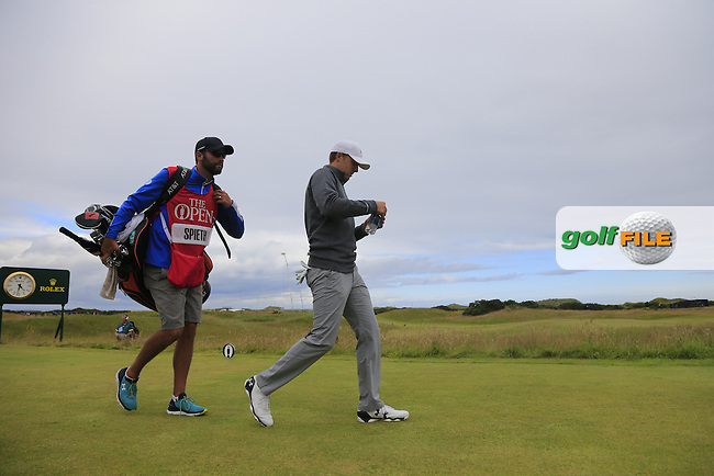 Jordan Spieth (USA) walks off the 15th tee during Sunday's Round 3 of the 144th Open Championship, St Andrews Old Course, St Andrews, Fife, Scotland. 19/07/2015.<br /> Picture Eoin Clarke, www.golffile.ie