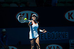 Agnieszka Radwanska (POL) defeats Johanna Larsson (SWE) 6-0, 6-1  at the Australian Open being played at Melbourne Park in Melbourne, Australia on January 22, 2015