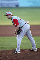 Lowell Spinners Pitcher Tyler Lockwood (35) during a game vs. the Batavia Muckdogs at Dwyer Stadium in Batavia, New York July 14, 2010.   Batavia defeated Lowell 12-2.  Photo By Mike Janes/Four Seam Images