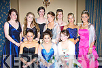 FASHION: Fashion galore at the Listowel Deb, in the Abbey Gate Hotel, Tralee, on Saturday night, Mary Carroll and  Danielle O'Connor (Listowel) and Carol Buckley (Lyraccomphane). Back l-r: Catherine Lyons (Listowel), Hannah O'Connell (Duagh), Kelly Saint John and Angelina Cox (Listowel), Siobhan Diggin (Lixnaw), Aisling Dillon and Deborah Stack (Listowel)......................... ..............................   Copyright Kerry's Eye 2008