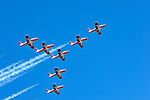 The Canadian Forces Snowbirds aerobatic team from Canada at Canadian International Air Show in Toronto