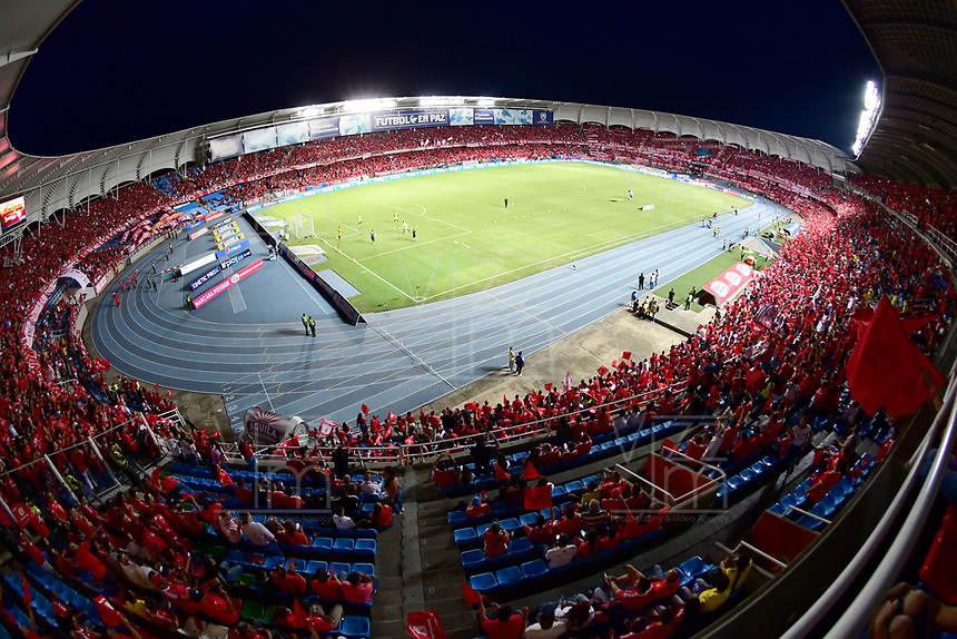 CALI - COLOMBIA, 14-04-2019: Vista del estadio Pascual Guerrero previo al partido entre América de Cali y Deportivo Cali por la fecha 15 de la Liga Águila II 2018 jugado en el estadio Pascual Guerrero de la ciudad de Cali. / View of the Pascual Guerrero stadium prior the match for the date 15 as part of Aguila League I 2019 between America Cali and Deportivo Cali played at Pascual Guerrero stadium in Cali. Photo: VizzorImage / Nelson Rios / Cont
