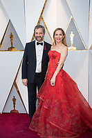Judd Apatow and Leslie Mann arrive on the red carpet of The 90th Oscars&reg; at the Dolby&reg; Theatre in Hollywood, CA on Sunday, March 4, 2018.<br /> *Editorial Use Only*<br /> CAP/PLF/AMPAS<br /> Supplied by Capital Pictures