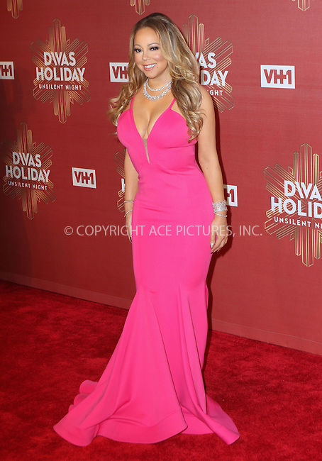 www.acepixs.com<br /> <br /> December 2, 2016 New York City<br /> <br /> Mariah Carey arriving at the 2016 VH1's Divas Holiday: Unsilent Night at Kings Theatre on December 2, 2016 in New York City.<br /> <br /> <br /> By Line: Nancy Rivera/ACE Pictures<br /> <br /> <br /> ACE Pictures Inc<br /> Tel: 6467670430<br /> Email: info@acepixs.com<br /> www.acepixs.com