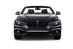 Car photography straight front view of a 2018 BMW 4 Series 430i 2 Door Convertible