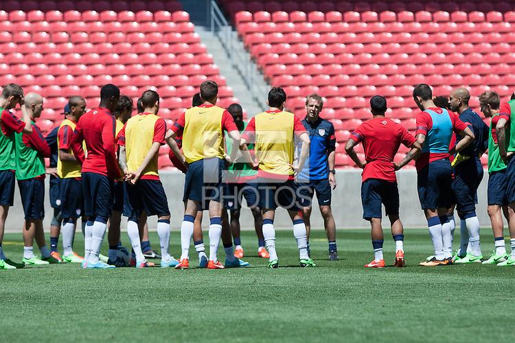 Salt Lake City, UT - Friday, June 14, 2013: USMNT training for Honduras WC qualifying match.