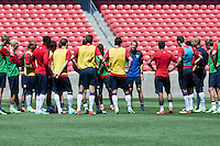 Salt Lake City, UT - Friday, June 14, 2013: USMNT training for Honduras WC qualifying match.