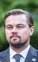 NEW YORK CITY, UNITED STATES SEPTEMBER 16, 2016: UN messenger of Peace Leonardo DiCaprio attends the Peace Bell Ceremony on the occasion of the 35th Anniversary of the International Day of Peace at the United Nations in New York. Photo by VIEWpress/Maite H. Mateo