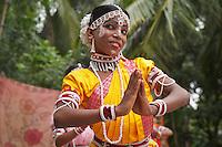 Gotipuas are young boys of tender age. They dress up as girls using vaishnav devotional love songs of Radhakrishna