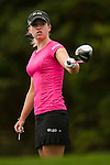 TAOYUAN, TAIWAN - OCTOBER 28:  Jodi Ewart of England tees off on the 15th hole during the day four of the Sunrise LPGA Taiwan Championship at the Sunrise Golf Course on October 28, 2012 in Taoyuan, Taiwan.  Photo by Victor Fraile / The Power of Sport Images