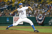 UCLA's Dan Klein in Game 6 of the NCAA Division One Men's College World Series on Monday June 21st, 2010 at Johnny Rosenblatt Stadium in Omaha, Nebraska.  (Photo by Andrew Woolley / Four Seam Images)