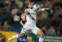 Yura Movsisyan traps the ball on route to a goal during a 3-2 victory by Real Salt Lake in Santa Clara, California, Sept., 27, 2008. Photo by John Todd/isiphotos.com