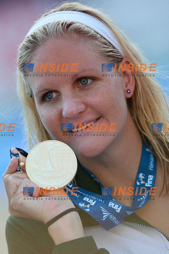 Roma 1st AUGUST 2009 - 13th Fina World Championships .From 17th to 2nd August 2009.Women's 200m Backstroke.Coventry ZIM Gold Medal.Roma2009.com/InsideFoto/SeaSee.com