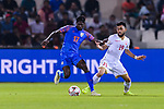 Rowllin Borges of India (L) fights for the ball with Komail Hasan Alaswad of Bahrain during the AFC Asian Cup UAE 2019 Group A match between India (IND) and Bahrain (BHR) at Sharjah Stadium on 14 January 2019 in Sharjah, United Arab Emirates. Photo by Marcio Rodrigo Machado / Power Sport Images
