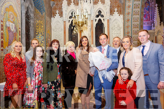 Chute Christening : Baby .........with her parents Lydia May & Francis Chute, Listowel who was christened by Canon Declan O'Connor in St. mary's Church, Listowel on Saturday and afterwards at Tankers Bar, Listowel. L-R: Sharron Chute, Linda Chute, Octavia Tolkin Galvin, Linda Chute, Bridie Chute, Lydia May Chute, Francis Chute, Frank Chute, Rebecca Chute, Darren Chute & Arya Rahilly in front.