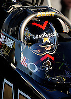 Sept. 5, 2010; Clermont, IN, USA; NHRA top fuel dragster driver Tony Schumacher during qualifying for the U.S. Nationals at O'Reilly Raceway Park at Indianapolis. Mandatory Credit: Mark J. Rebilas-