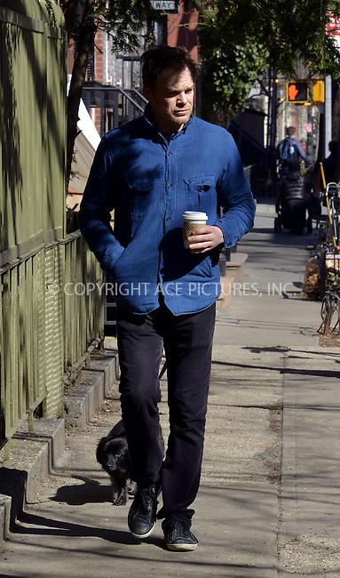 WWW.ACEPIXS.COM<br /> <br /> April 3 2014, New York City<br /> <br /> Actor Michael C Hall walks in the West Village on April 3 2014 in New York City<br /> <br /> By Line: Curtis Means/ACE Pictures<br /> <br /> <br /> ACE Pictures, Inc.<br /> tel: 646 769 0430<br /> Email: info@acepixs.com<br /> www.acepixs.com
