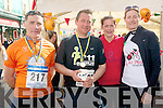 Runners, Ger Morgan, Denis O'Shea, Ellen Vitting and Lisa Stapelbroek at the Jack and Jill Run in Kenmare on Saturday.