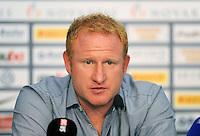 FUSSBALL   CHAMPIONS LEAGUE   SAISON 2011/2012     08.12..2011 FC Basel - Manchester United Pressekonferenz Trainer Heiko Vogel (FC Basel)