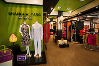 Shanghai Tang designer clothes shop owned by Chinese entrepreneur David Tang in modern Xintiandi, China