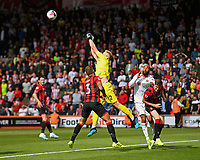 Aaron Ramsdale of AFC Bournemouth punches clear on the edge of the penalty area during AFC Bournemouth vs Sheffield United, Premier League Football at the Vitality Stadium on 10th August 2019