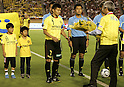 Hidekazu Otani (Reysol),JULY 23, 2011 - Football :Kashiwa Reysol captain Hidekazu Otani receives a bouquet from Hitachi president Hiroaki Nakanishi before the 2011 J.League Division 1 match between between Kashiwa Reysol 2-1 Kashima Antlers at National Stadium in Tokyo, Japan. (Photo by AFLO)HITACHI DAY