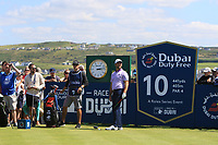 Jon Rahm (ESP) on the 10th tee during the Pro-Am of the Irish Open at LaHinch Golf Club, LaHinch, Co. Clare on Wednesday 3rd July 2019.<br /> Picture:  Thos Caffrey / Golffile<br /> <br /> All photos usage must carry mandatory copyright credit (© Golffile | Thos Caffrey)