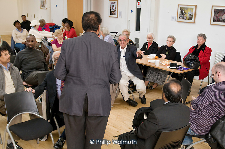 Health promotion event for the over-50s at Greenside Community Centre organised by Central London Youth Development and the Lisson Green Tenants' and Residents' Association.